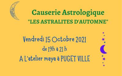 Causerie Astrologique «Les Astralités d'Automne»